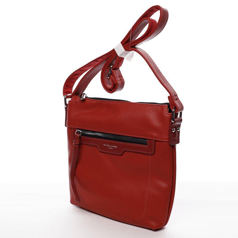 Dámska crossbody kabelka David Jones Mena, červená