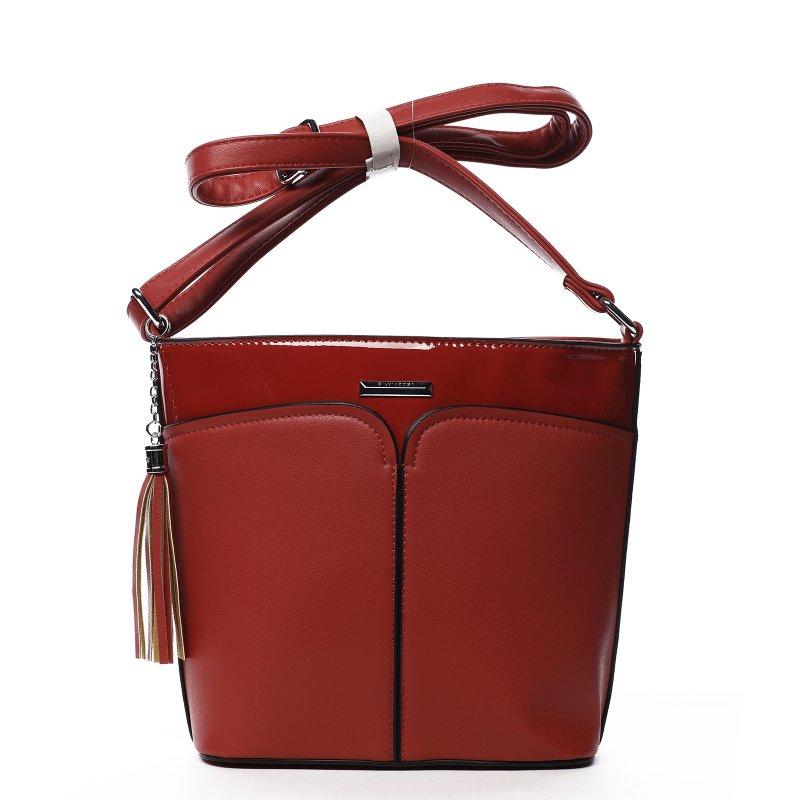 Dámska crossbody kabelka Silvia Rosa Sylvian, červená