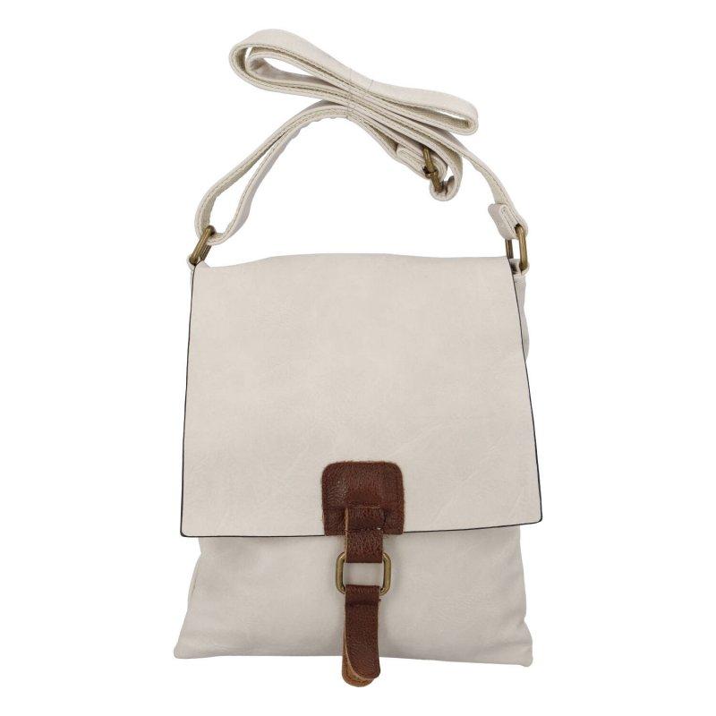 Levně Dámská crossbody kabelka Paolo Bags Ariel, bílá