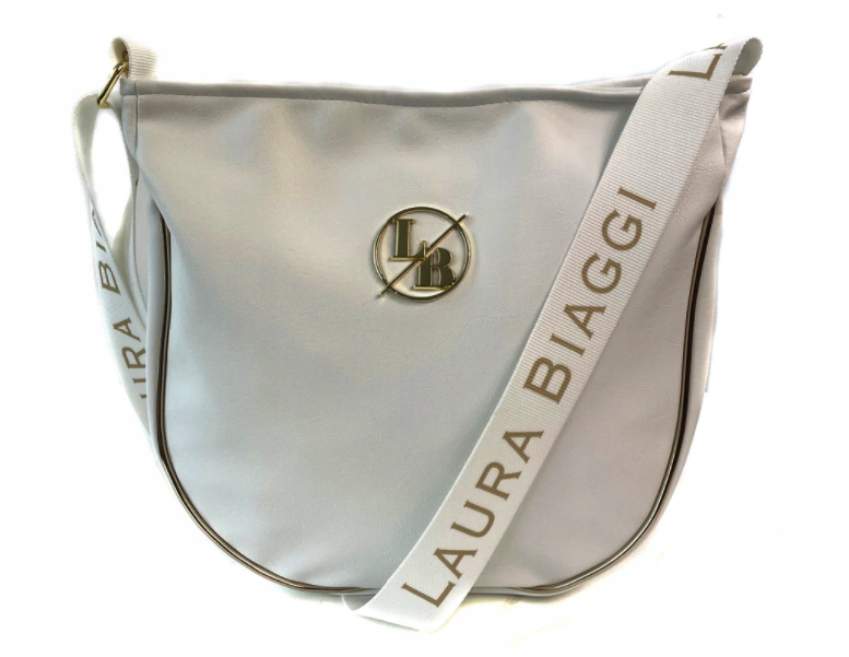 Dámska crossbody kabelka Laura Biaggi Tessa, biela