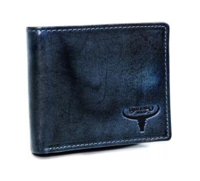 Levně Pánská kožená peněženka Buffalo Wild Selfoss Navy, modrá