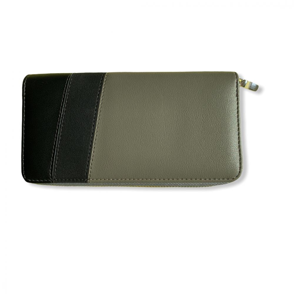 Levně Dámská peněženka Gabaara Stripes, šedo / zelená