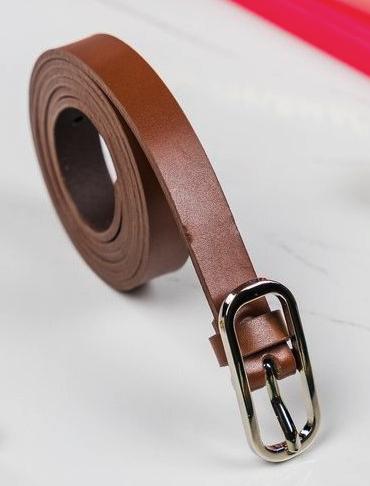 Dámsky kožený opasok Rovicky Wavre, hnedý