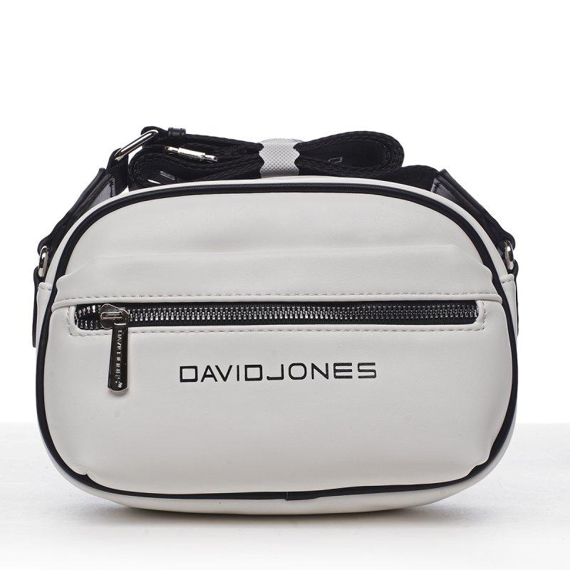 Dámska crossbody kabelka David Jones Lorax Cross, bílá