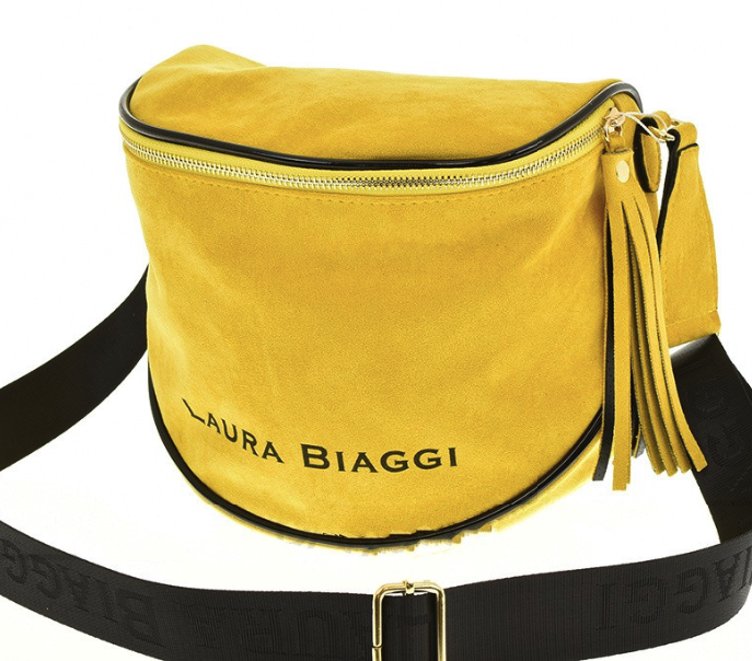 Dámska crossbody kabelka Laura Biaggi Lorient, žlutá