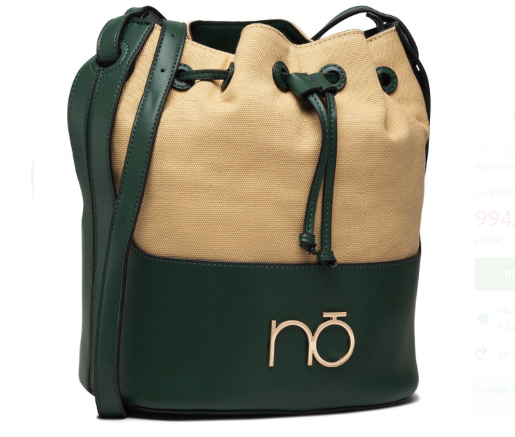 Dámska crossbody kabelka Nobo Bona, bežovo/zelená